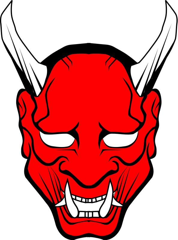 594x800 Hannya Vector Free Cliparts Red Oni Mask Clipart Oni Masks