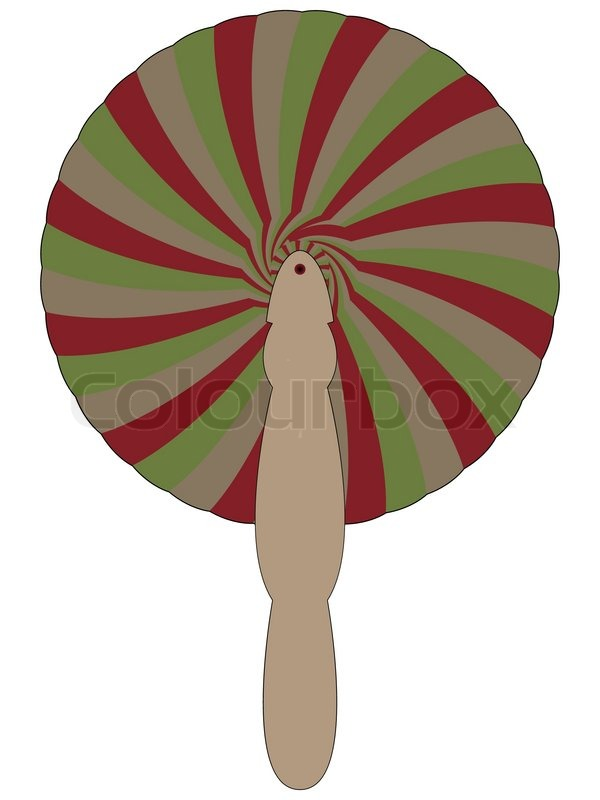 600x800 Bamboo Fan Against White Background, Abstract Vector Art