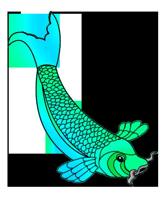 530x636 Colorful Koi Fish Drawings