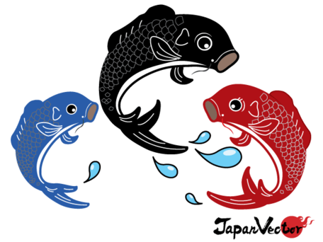 456x342 Free Japanese Koi Fish Vector Free Download Clipart And Vector
