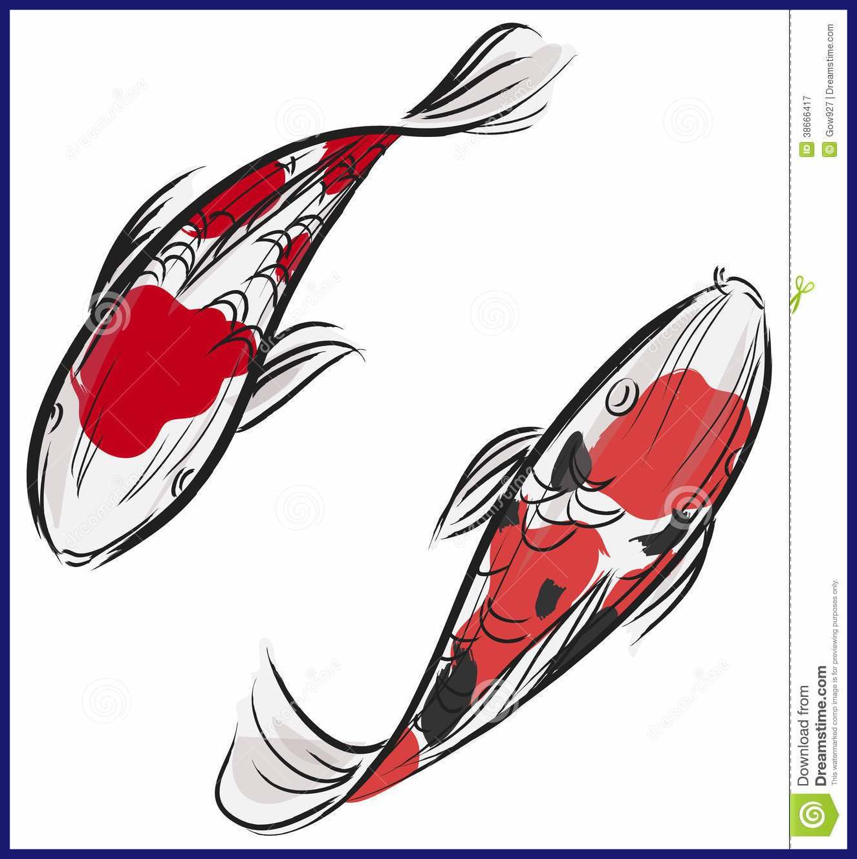 1325x1330 Unbelievable Artisic Painting Of Japanese Carp Fish Koi Stock