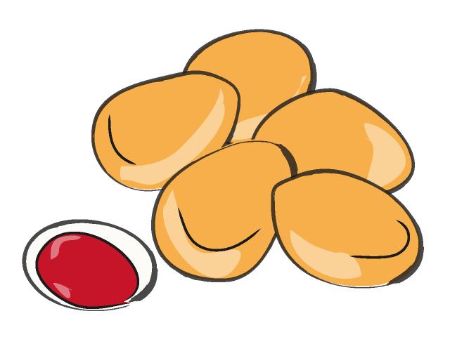 640x480 Chicken Nugget Food Illustration Free Clip Art Material