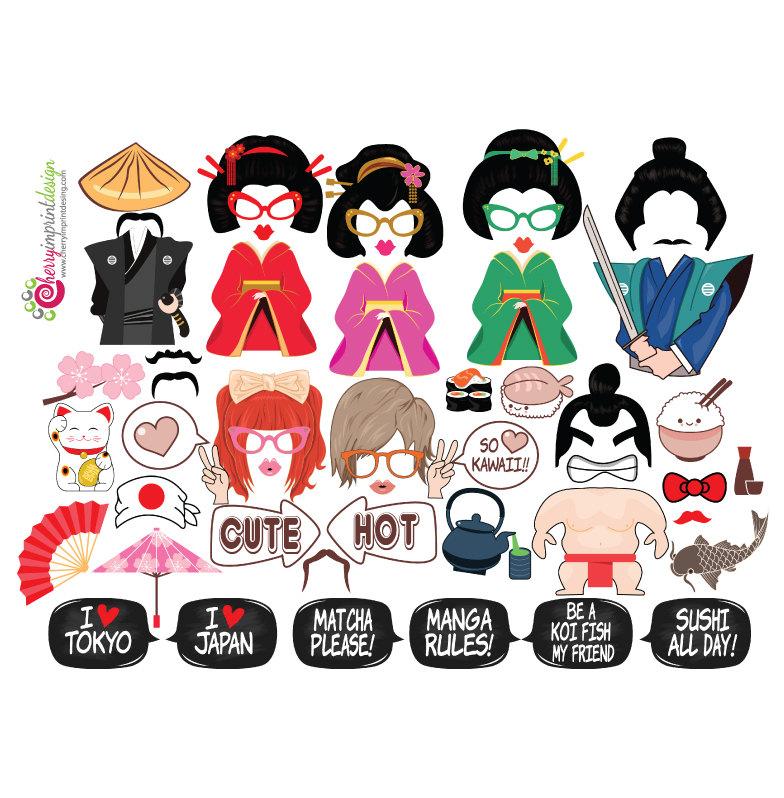 Japanese Geisha Clipart