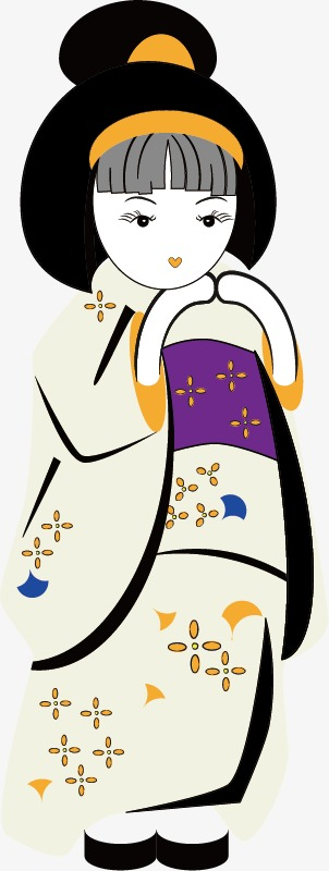 302x800 Japanese Geisha, Japan, Geisha, Cartoon Png And Vector For Free