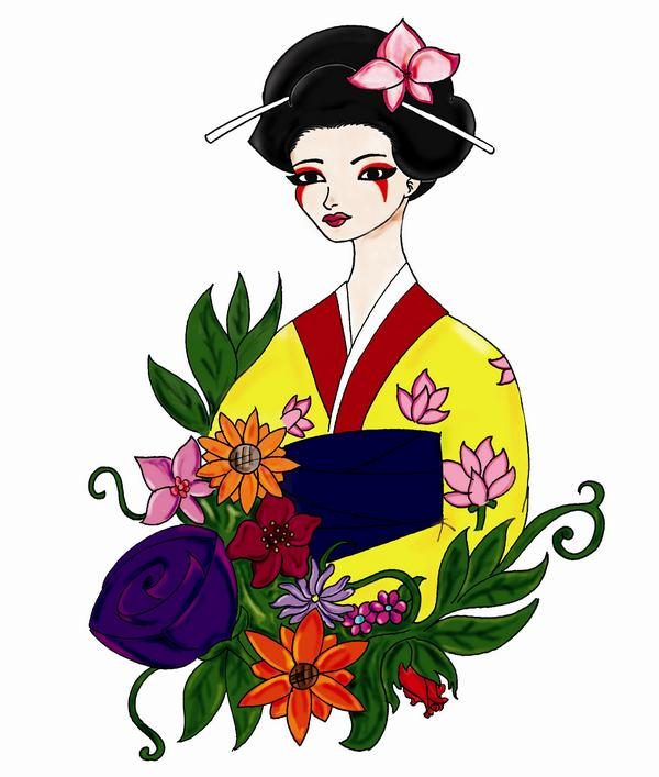 Japanese Geisha Clipart At Getdrawings Com Free For Personal Use