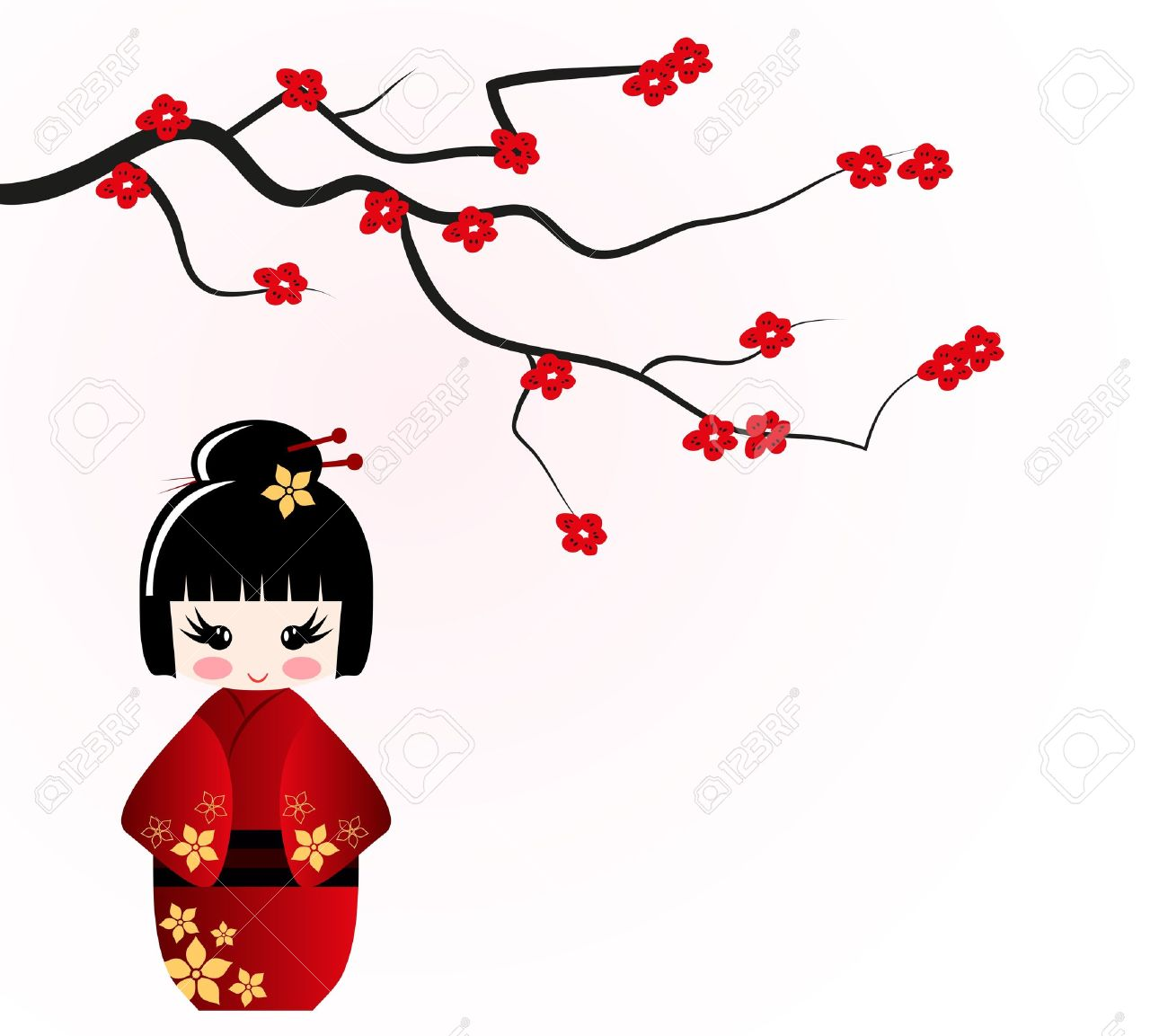1300x1153 Japanese Clipart Kokeshi Doll Free Collection Download And Share