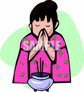 276x300 Japanese Girl Praying Before A Meal