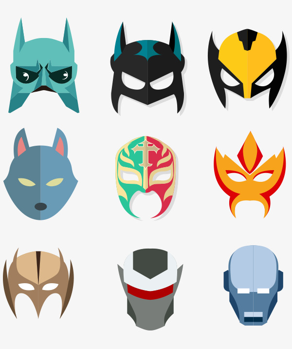 600x716 Man Mask Collection, Man Mask, Robot, Vector Png And Vector