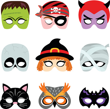 418x412 Collection Of Halloween Mask Clipart High Quality, Free