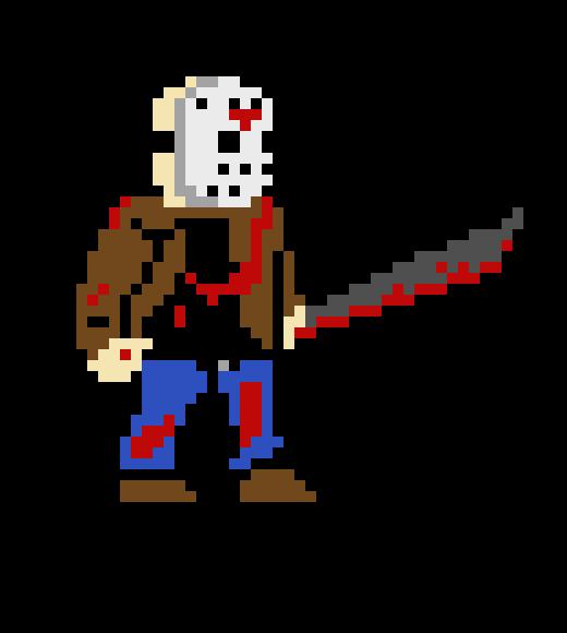 520x580 Jason Voorhees Pixel Art Maker