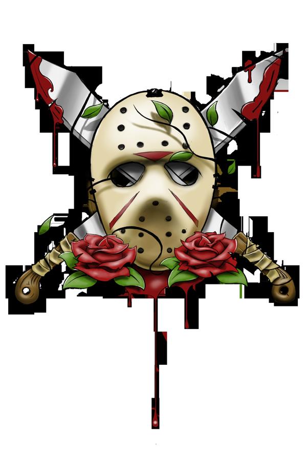 600x927 Jason Voorhees Mask Tattoo By Artisticrender