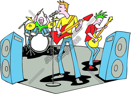 500x360 Rock Band Clipart Gallery Images)