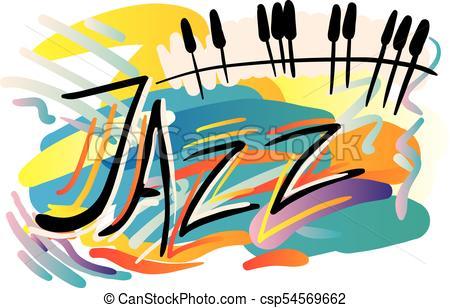 450x308 Jazz Festival. Creative Conceptual Music Festival Vector . Clip