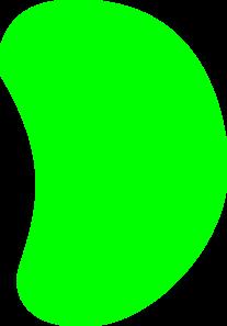 207x297 Green Jelly Bean Clip Art