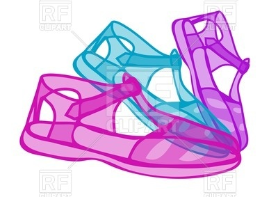 400x283 Jelly Shoes Royalty Free Vector Clip Art Image