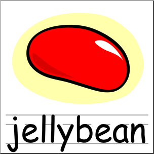 304x304 Clip Art Basic Words Jellybean Color Labeled I