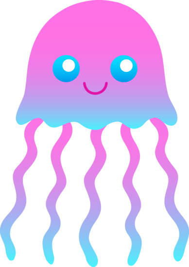 389x550 Cute Jellyfish Clip Art Clipart And Graphics Blue