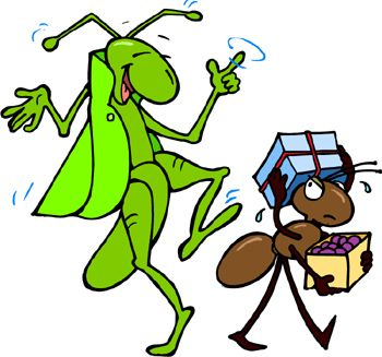 350x327 Clipart Of Grasshopper And Ant Free Download Clip Art