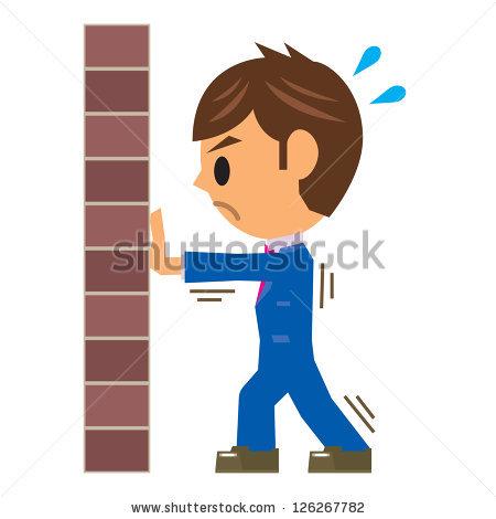 450x470 Wall Clipart Man