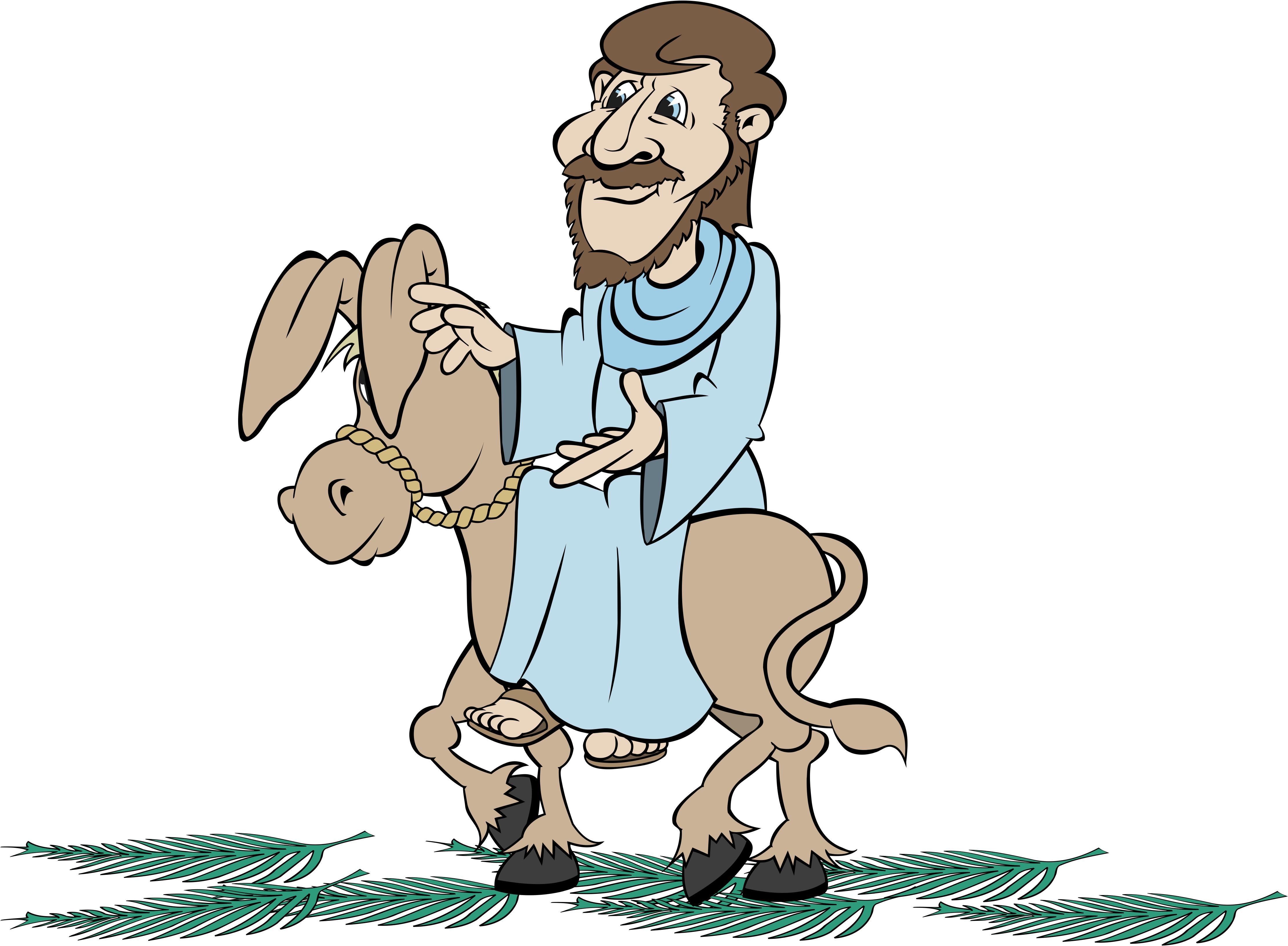 4446x3267 Jesus Riding Donkey Clipart Amp Jesus Riding Donkey Clip Art Images