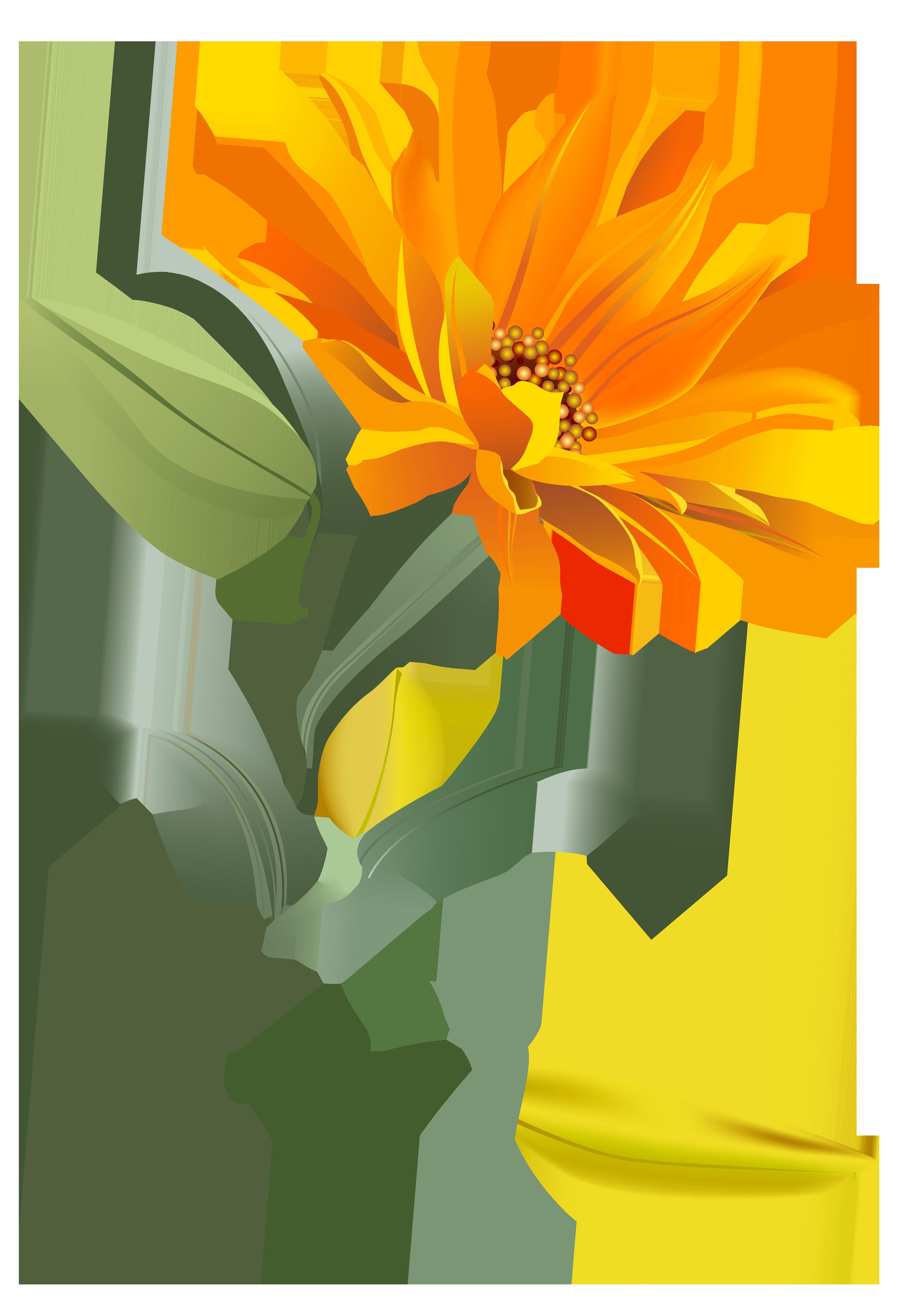 3243x4747 Orange Flower Png Clip Art Imageu200b Gallery Yopriceville