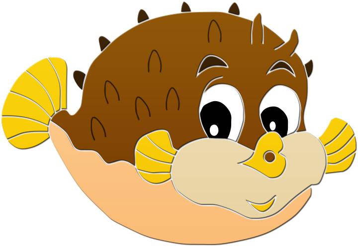 720x498 Clip Art Of Puffer Fish Best 24200 Clipartion Com