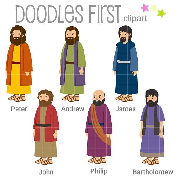570x570 6 Of The 12 Disciples Digital Clip Art For Scrapbooking Card