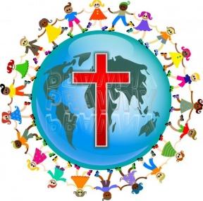 288x285 Children World Jesus Cross Clipart