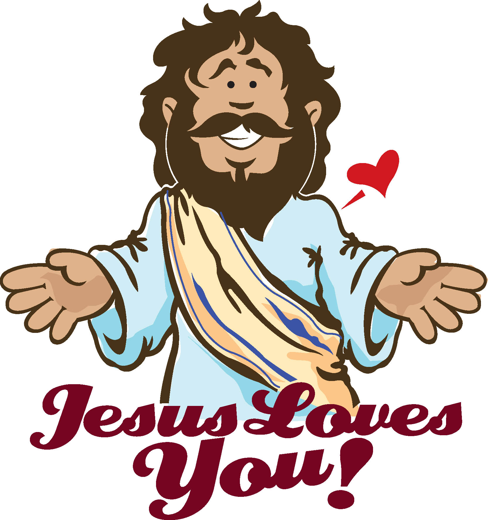 1664x1773 Jesus Loves You Clipart