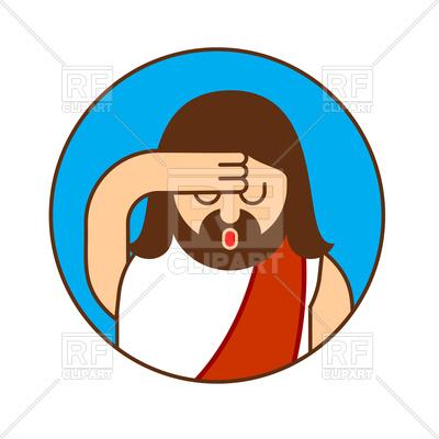 400x400 Oh My God Jesus Emoji Royalty Free Vector Clip Art Image