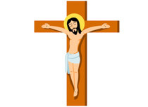210x153 Clip Art Jesus On The Cross Vector Illustration Of Jesus Christ