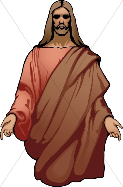 404x612 Jesus With Arms Outstretched Clipart
