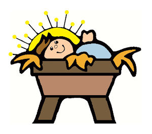 300x266 Baby Jesus Clipart Graphics Images 3
