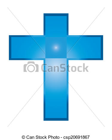 375x470 The Vector Of Isolated Blue Jesus Cross. Clip Art Vector