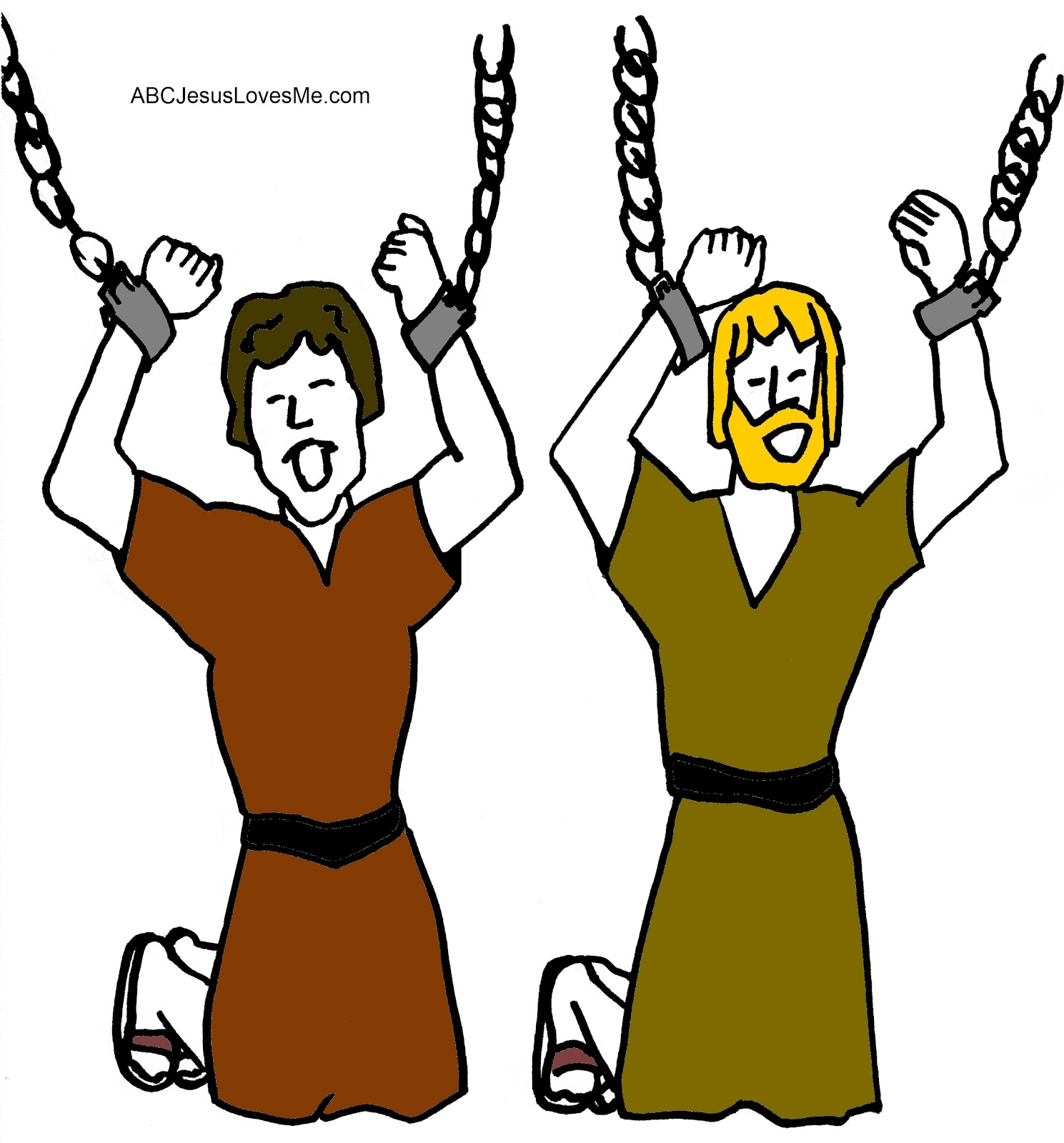 1489x1600 Mainstream Peter And John In Jail Coloring Pag