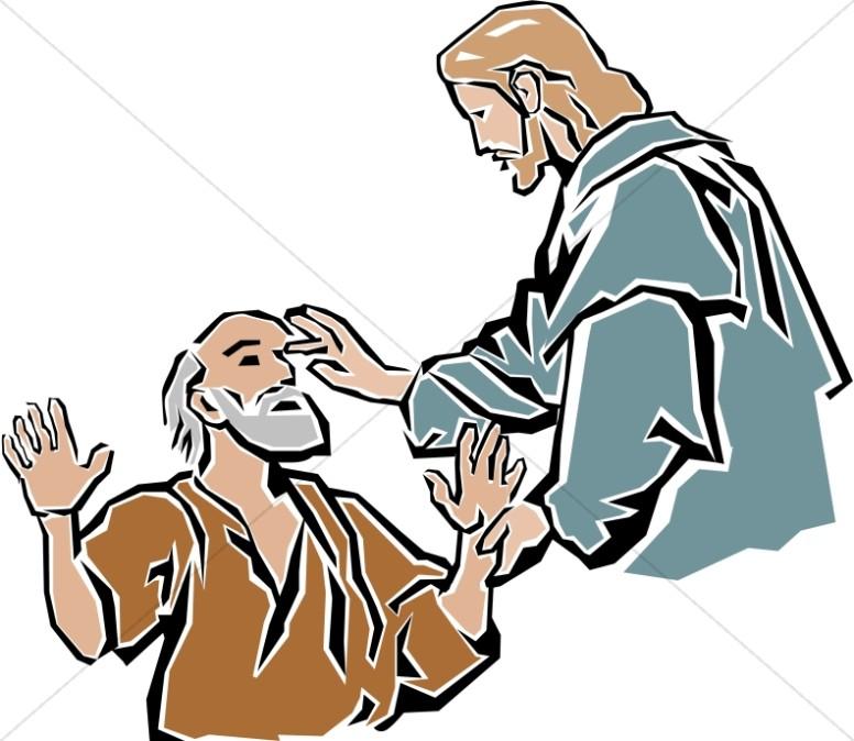 776x674 Christian Clipart Jesus Healing Blind Man