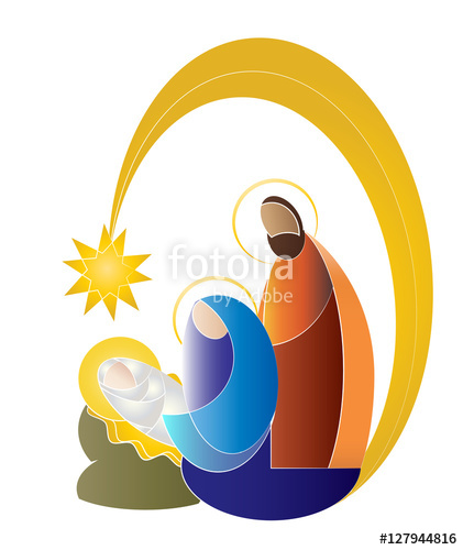 421x500 Christmas Nativity Simple Color Vector Illustration