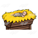 160x160 Clipart Of A Manger Collection