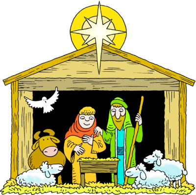 400x397 Free Clipart Jesus In A Manger