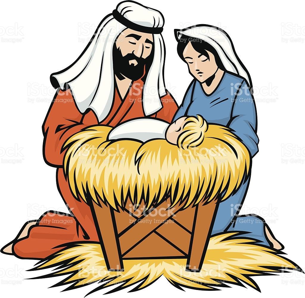 1024x1000 Mary Joseph And Baby Jesus Clipart