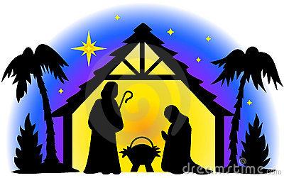 400x251 Nativity Clipart Silhouette Faces