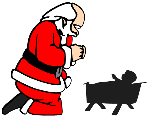 499x404 Santa Kneeling