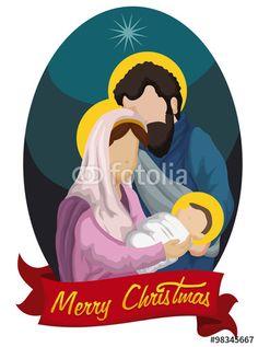 236x317 Adorable Nativity Scene With Night Sky Free Vector Christmas