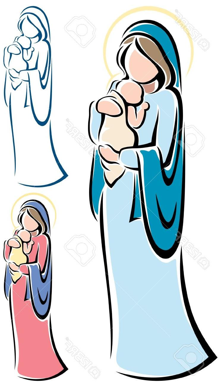 744x1300 Clipart Of Jesus Holding Baby Haven Child Pencil And In Color