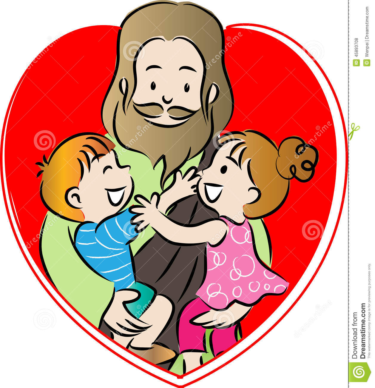 1257x1300 Jesus Children Clip Art