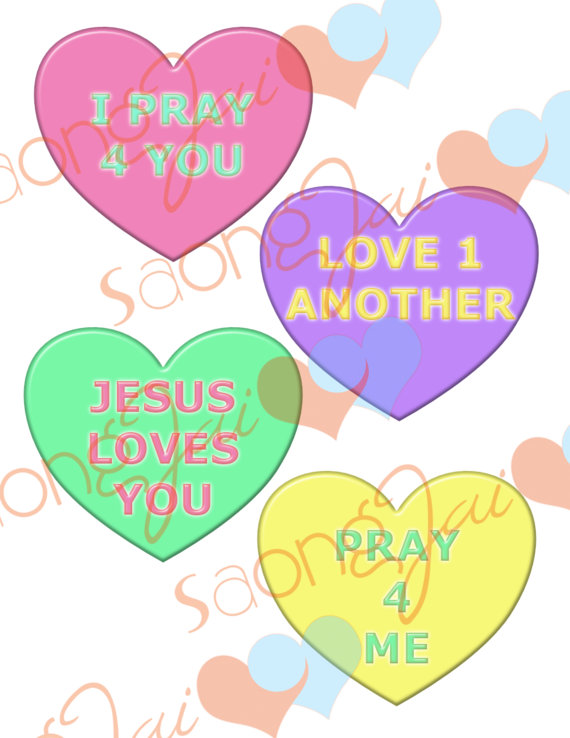 570x738 Christian Candy Hearts Clipart
