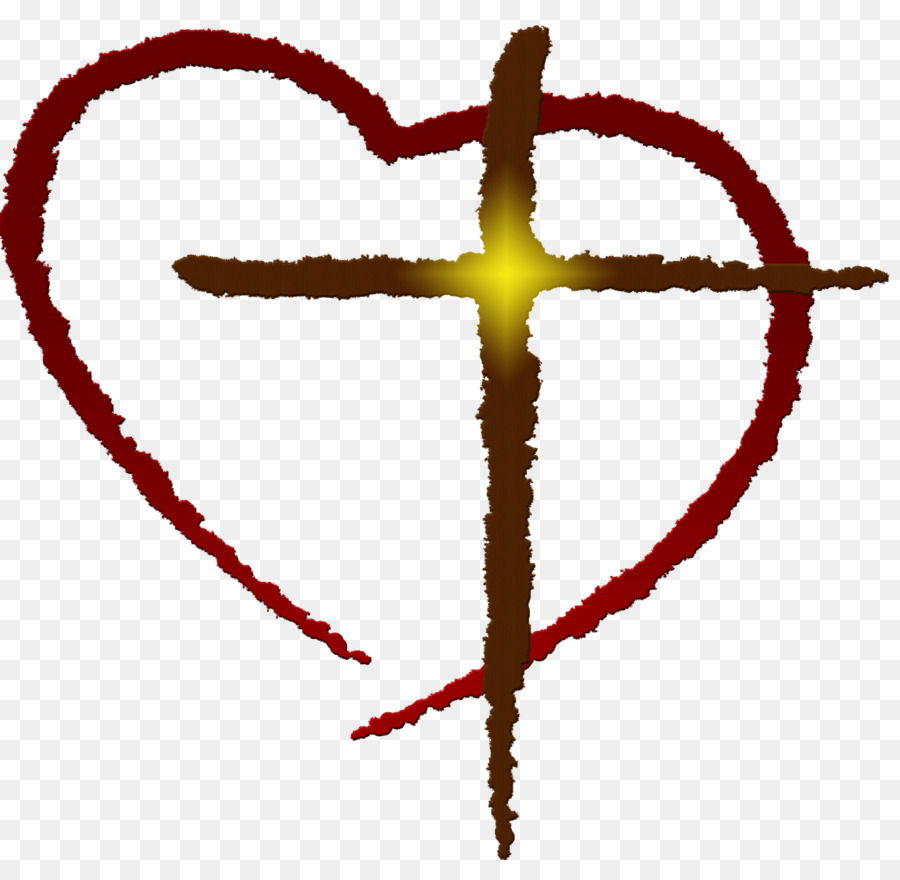 900x880 Heart Christian Cross Free Content Clip Art
