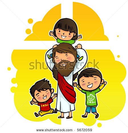 450x467 Top 84 Jesus Children Clip Art