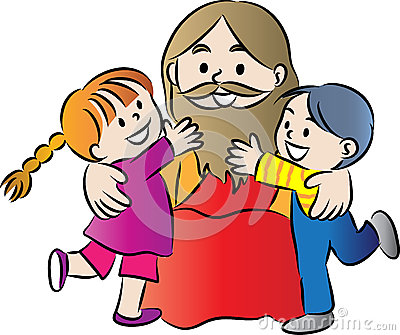 400x335 Jesus Children Clip Art