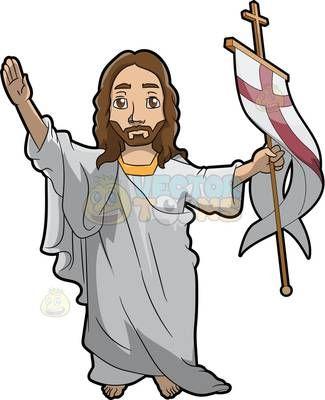 325x400 Resurrected Jesus Clipart